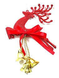billige -Juledekorationer Julefrokost Forsyninger Juletræspynt Elk Plast Legetøj Gave 3 pcs