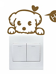 cheap -AYA™ DIY Wall Stickers Wall Decals, Lovely Funny Dog Pattern Light Switch Stickers