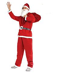 baratos -venda de pré-aquecimento do Natal! natal traje de Papai Noel cinco conjuntos de roupas não-tecidos partido masculino vestuário de