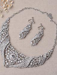 Schmuck Halsketten Ohrringe Braut-Schmuck-Sets Set Hochzeit Party 1 Set Damen Silber Hochzeitsgeschenke