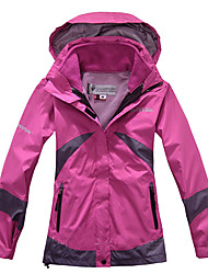 cheap -Women's outdoor Spring Softshell Jacket Full Length Visible Zipper Skiing Windproof / Breathable / Quick Dry / Thermal / Warm / Waterproof / Winter