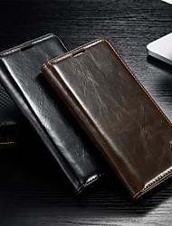 رخيصةأون -غطاء من أجل Samsung Galaxy حالة سامسونج غالاكسي محفظة / حامل البطاقات / مع حامل غطاء كامل للجسم لون سادة جلد PU إلى S5 / S4