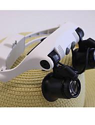 Недорогие -Лупы Гарнитура Magnification 10X 15X 20X 25X пластик