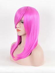 abordables -Pelucas sintéticas Recto Rosa Pelo sintético Rosa Peluca Mujer Corta