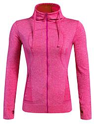 Per donna Giacca in pile da escursione Asciugatura rapida Antivento Traspirante Comodo Crema solare Protettivo Top per Yoga Esercizi di