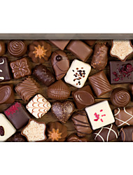 Chocolate 3D Stickers The Floor Tile Individuality Decorative Carpet Decal