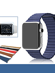 abordables -Bracelet de Montre  pour Apple Watch Series 3 / 2 / 1 Apple Sangle de Poignet Bracelet en Cuir Vrai Cuir