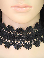 Women's Choker Necklaces Collar Necklace Tattoo Choker Lace Tattoo Style Vintage Fashion Black Jewelry Party Daily 1pc