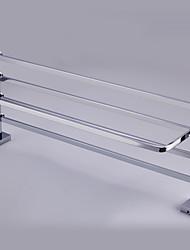 abordables -chrome 3511contemporary fini solide plateau en laiton salle de bains avec porte-serviettes