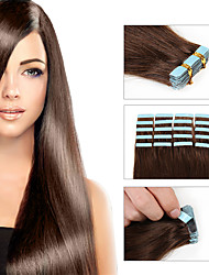 cheap -8A Tape Hair Extensions 20pcs/lot Tape Skin Remy Human Hair  Weft Silky Straight Brazilian Hair 100% Human Hair Weft