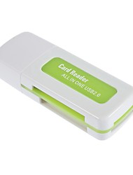 billige -Usb 2.0 sdhc sdxc micro sd kortleser multifunksjon sd / microsd / tf trans-flash kort / m2 / ms minnepinne / mmc