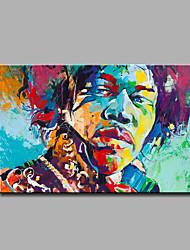 Недорогие -ручная роспись абстрактные / абстрактные портрет масляной живописи одной панели холст масляной живописи