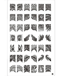 cheap -42 Pattern Nail Art Stamp Stamping Image Template Plate