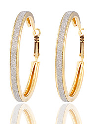 cheap -Women's Hoop Earrings Jewelry Silver Plated Gold Plated Jewelry Gold Silver Wedding Party Costume Jewelry
