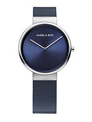 abordables -AngelaBOS Mujer Reloj de Moda Cuarzo Acero Inoxidable Banda Bohemio Casual Negro Azul Plata Negro Azul Oscuro Gris