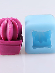 Cactus Shaped Soap Molds Mooncake Mould Fondant Cake Chocolate Silicone Mold, Decoration Tools Bakeware