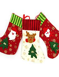 Décorations de Noël Articles pour Célébrer Noël Sacs à cadeau Jouets Chaussettes 1 Pièces Noël Cadeau