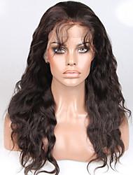 Ženy Paruky z přírodních vlasů Přírodní vlasy Se síťkou 130% Hustota Vlnité Paruka Černá Krátký Střední Dlouhý Přírodní vlasová linie Pro