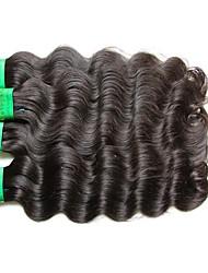 baratos -Boa qualidade 8a india virgem cabelo corpo onda 4bundles 400g lote 100% não processado material de cabelo humano feito natural cor preta