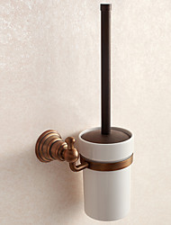 cheap -Toilet Brush Holder Bathroom Gadget Antique Brass 12.5cm 19.5cm Toilet Brush Holder