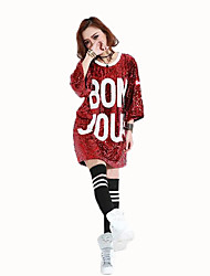 Cosplay Female Christmas Festival/Holiday Halloween Costumes Silver Black Red Green Ink Blue Solid