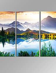VISUAL STAR®3 Pieces Modern Canvas Wall Art For Home Decoration Fantastic Sunny Day In Mountain Lake Beauty World Landscape Picture Canvas Prints
