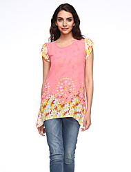 cheap -2016 Summer New Women Loose Short-Sleeved Chiffon Shirt