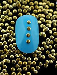 cheap -100PCS 2MM Golden Small Round Metal Rivet Nail Art Decoration