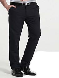 Pánské Chinoiserie Mikro elastické Kalhoty chinos Provozovna Kalhoty Volné Mid Rise Jednobarevné