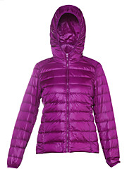cheap -Women's Holiday Active / Street chic Cotton Down - Solid Colored Hooded / Winter / Lined