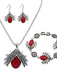 abordables -Mujer Conjunto de joyas - Resina Europeo, Moda Incluir Rojo / Verde Para Diario