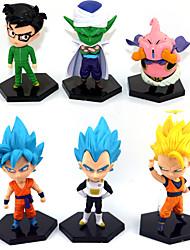economico -Figure Anime Azione Ispirato da Dragon Ball Goku Anime Accessori Cosplay figura Giallo PVC