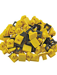 cheap -50 Pcs Car Auto Fender Rectangular Push in Plastic Rivets Fastener