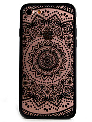 For iPhone X iPhone 8 iPhone 7 iPhone 6 iPhone 5 Case Case Cover Embossed Back Cover Case Lace Printing Hard PC for Apple iPhone X iPhone
