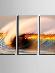 Недорогие -Холст Set Пейзаж Modern,3 панели Холст Вертикальная Печать Искусство Декор стены For Украшение дома