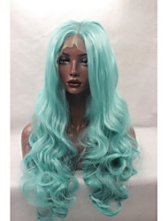 cheap -Synthetic Lace Front Wig Body Wave Natural Hairline Green Women's Lace Front Natural Wigs Synthetic Hair