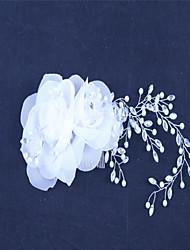 Недорогие -chiffon имитация жемчуг горный хрусталь волосы гребни головной убор элегантный стиль