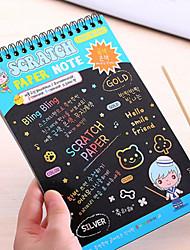 1PC Creative Hand-Painted Diy Graffiti Magic Fun Paint Color Painting Notebook
