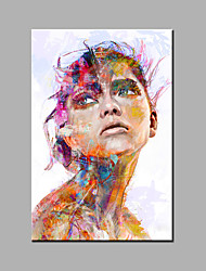 Hand-Painted Abstract / Abstract Portrait 100% Hang-Painted Oil Painting,Modern / Classic One Panel Canvas Oil Painting For Home