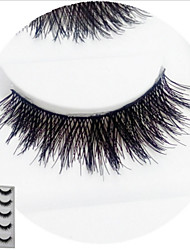 Eyelashes lash Full Strip Lashes Eyelash Crisscross Natural Long Lifted lashes Volumized Natural Curly Handmade Fiber Black Band 12mm