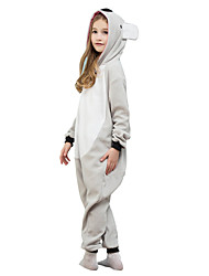 Kigurumi Pajamas Koala Costume Gray Polar Fleece Leotard / Onesie Cosplay Festival / Holiday Animal Sleepwear Halloween Solid For Kid