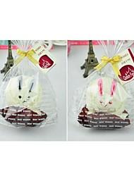 Недорогие -подарок на день рождения кролика форма волокна творческой полотенце (случайный цвет)