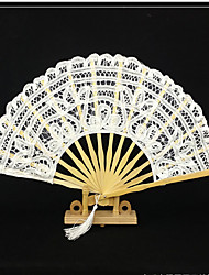 "cheap -Fans and parasols-# Piece/Set Hand Fans White Black 11"" high × 19 1/2"" in diameter (28cm high×50cm in diameter)11"" high × 2"" in diameter"