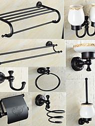 Bathroom Accessory Set Antique Brass 140 63 Towel Bar Towel Ring Toilet Paper Holder Robe Hook Soap Dishes Bathroom Shelf Toothbrush