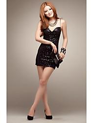 Moulante Gaine Robe Femme Soirée Sexy,Couleur Pleine A Bretelles Mini Sans Manches Modal Eté Taille Basse Micro-élastique Moyen