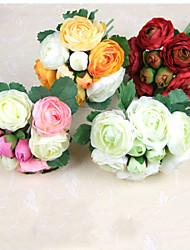 Afdeling Polyester Kamelia Bordblomst Kunstige blomster