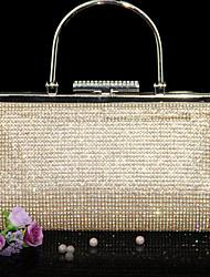 Недорогие -Жен. Мешки Яловка Вечерняя сумочка В одно сложение Crystal / Rhinestone для Свадьба Для праздника / вечеринки Официальные на открытом