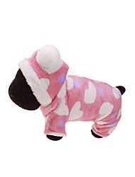 cheap -Dog Hoodie / Jumpsuit Dog Clothes Floral / Botanical Pink Flannel Fabric Costume For Pets Men's / Women's Keep Warm / Sports