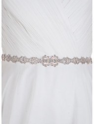 Недорогие -атласная свадебная вечеринка / вечерняя повседневная одежда с горным хрусталем элегантный стиль