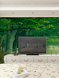 JAMMORY Wallpaper For Home Wall Covering Canvas Adhesive required Mural Surrounded by Greenery Landscape XL XXL XXXL
